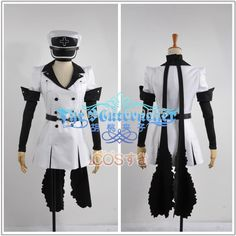 Free Shipping! Akame Ga Kill Esdeath Cosplay Costume Custom Made Any Size Dresses, hats, belts, gloves, Scarves