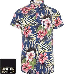 men's hawaiian shirt - river island