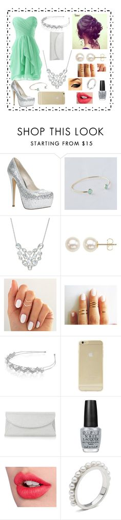 """""""prom night"""" by berkeleys12 ❤ liked on Polyvore featuring ALDO, Charter Club, Honora, Bling Jewelry, Sonix, OPI and Charlotte Tilbury"""