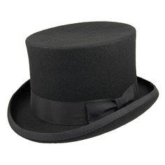 Buy the Jaxon & James Mid Crown Top Hat - Black at Village Hats. The destination for hats and caps online. Goth Hat, Jaxon Hats, Navy Blue Color, Bandeau, Caps Hats, Wool Felt, Classic Style, Heels, Leather