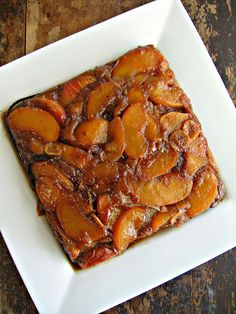 sweetsugarbean: Ginger & Vanilla Peach Upside Down Cake