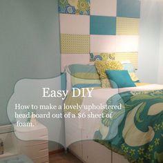 Bella's Bedroom Makeover: Easy DIY Upholstered Headboard