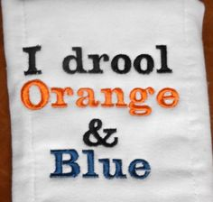 Hey, I found this really awesome Etsy listing at http://www.etsy.com/listing/159244701/i-drool-orange-and-blue-one-piec