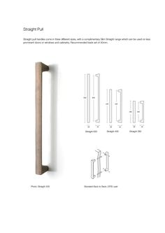Straight Pull bronze door handle made by Black Sand Bronze with dimensions and fitting instructions