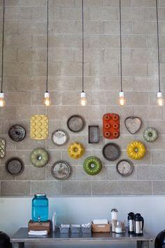 baking tins wall hanging