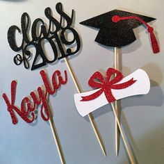 Excited to share this item from my shop Graduation centerpiece sticks Double Sided Graduation Centerpiece Graduation Table Decor CLASS OF 2019 Centerpiece Graduation Party 2019 Graduation Table Decorations, Graduation Party Planning, College Graduation Parties, Graduation Party Decor, Grad Parties, Decoration Table, Graduation Gifts, Graduation Centerpiece, Graduation Ideas