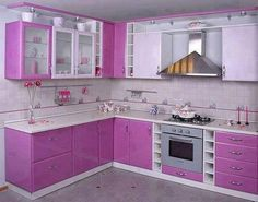 Beautiful pink colors for kitchen design ideas as pink kitchen appliances with decorative design inspiration for your Modern Kitchen Designs 3 Kitchen Cupboard Designs, Kitchen Cabinet Remodel, Kitchen Room Design, Kitchen Cabinet Colors, Modern Kitchen Design, Interior Design Kitchen, Kitchen Cabinets, Kitchen Colors, Kitchen Appliances