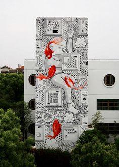 Street art, Shangaï by Millo