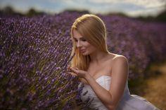 Lavender - Portrait in Lavender Fields near London, UK