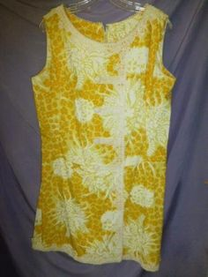 Vtg-Lilly-Pulitzer-ric-rac-lace-classic-shift-Cotton-Dress-old-Palm-Beach-larger