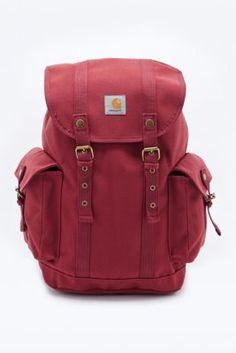 Carhartt Canvas Backpack In Burgundy Backpacks Bordeaux Latest Styles Urban