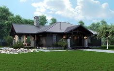 Красивый дизайн одноэтажного деревянного дома. С интерьерами.