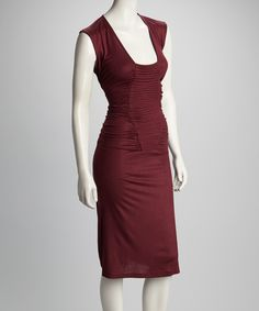 Take a look at this Avatar Imports Plum Pleated Dress on zulily today!