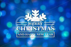 Qdiz Stock Photos Merry Christmas and New Year greeting card,  #background #blue #blur #blurred #card #celebration #Christmas #eve #fantasy #greeting #happy #holiday #light #magic #Merry #new #postcard #retro #season #traditional #vintage #winter #xmas #year