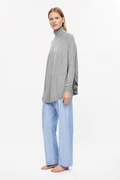 acde4757362 This high-neck jumper is made from an extra-soft blend of merino wool and  cashmere with a ribbed circular hemline. A relaxed