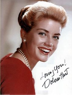 Pretty starlet Dolores Hart before she became a nun