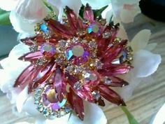 Vintage Juliana with with lovely Pink Rhinestones by BEEBSCLOSET, $175.00