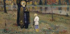 Нестеров М.. Видение отроку Варфоломею. 1889