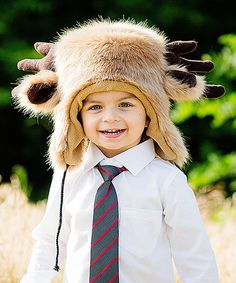 This Brown Moose Antler Earflap Beanie - Infant is perfect! #zulilyfinds