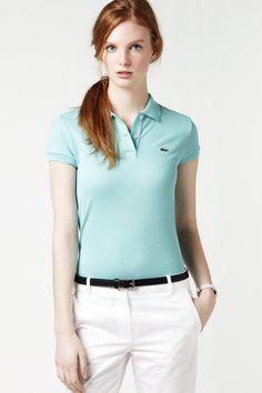 Lacoste Polo Shirts size 8 Whiteside Kimmons Able Polo Shirt Girl, Polo Shirt Outfits, Polo Shirt Women, Lacoste Polo Shirts, Green Polo Shirts, Polo T Shirts, Preppy Mode, Preppy Style, School Looks