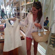 """@aerin on Instagram: """"Perfect summer white shirt? A must Piamita at #AERINSouthampton. Congrats @karlamartinezdesalas the line is beautiful"""""""