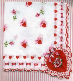Red and White  Vintage / Valentine's Day Handkerchief /  http://img2.etsystatic.com/000/0/5197008/il_fullxfull.301081346.jpg