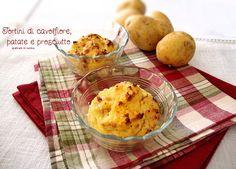Tortini di cavolfiore, patate e prosciutto http://blog.giallozafferano.it/graficareincucina/tortini-di-cavolfiore-patate-e-prosciutto/