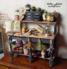 Belladonna Herb Bench erickav miniatures