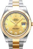 Rolex Datejust II Steel/Yellow Gold Watch, Champagne Diamond Dial