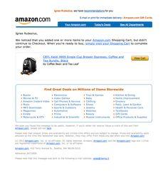 Amazon Abandoned Cart Email