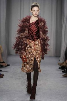 I'd wear this in NYC!! Marchesa RTW Fall 2014