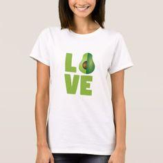 #Avocado Love Food Vegan Vegetarian Healthy T-Shirt - #cute #gifts #cool #giftideas #custom