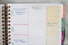 How I use my inkWELL Press planner. » My Favorite Adventure