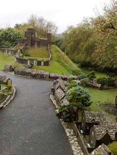 Corfe Castle miniature village