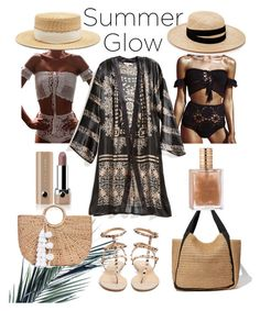 """""""Summer time"""" by djulianne on Polyvore featuring мода, WithChic, Calypso St. Barth, Marc Jacobs, Janessa Leone, Filù Hats, JADE TRIBE и Valentino"""