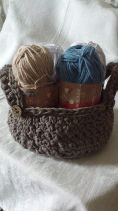 It's the King Cole yarn I'm using for the Coastal Coaster project.  The basket is one I made for me, and it's made from Hoooked Ribbon XL yarn. If you happen to like it, I can be commissioned to make one for you too! Message me if you're finding yourself in need of a crochet basket. :)  The Coastal Dining Settings Set is now available for puchase! See the main shop board and online store for more information. King Cole, My Works, Are You The One, Coaster, Finding Yourself, Ribbon, Basket, Etsy Shop, Dining