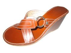 bb8253061876 Coach Wedge Platform Mule Sandal Rust Cinnamon Leather Size 8.5m Women s  Loafers