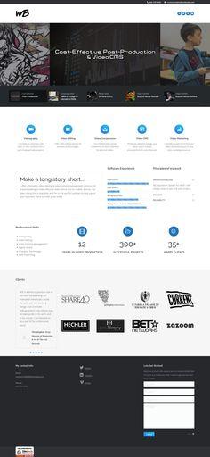 WordPress site williambeebe.com uses the The7 theme wordpress