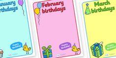 Editable Birthday Display Posters - Birthday, birthday poster
