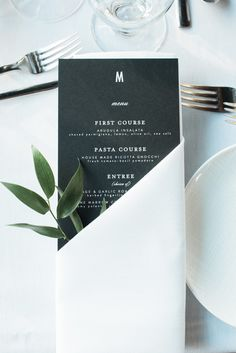 Wedding Designs - A Wildly Chic Waterfront Restaurant Wedding Wedding Menu Template, Wedding Menu Cards, Wedding Stationary, Diy Wedding, Wedding Gifts, Wedding Invitations, Elegant Wedding, Wedding Foods, Sophisticated Wedding