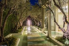 Greene's home, overlooking one of California's hottest celebrity haunts, was built for par...