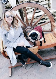 Zoe and Nala with her cute lil jacket