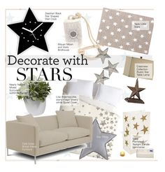 """Decorate With Stars"" by kusja ❤ liked on Polyvore featuring interior, interiors, interior design, maison, home decor, interior decorating, Cole & Son, MQuan, Nearly Natural et LumaBase"