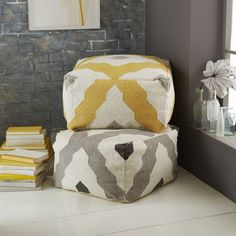 DIY floor pouf