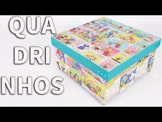Como Fazer Caixa Forrada com Revista em Quadrinhos - YouTube