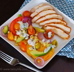 Fresh tomato and avocado salad. Perfection!