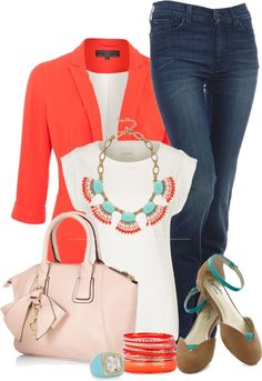 """""""Jazz Up Your Plain White Tee!"""" by stylesdice on Polyvore"""