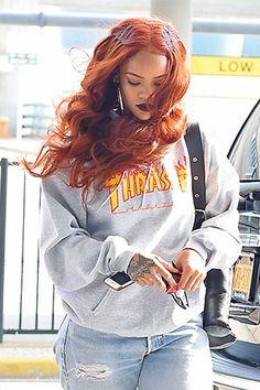Rihanna Just Dyed Her Hair Orange!