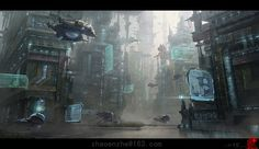 Industrial Planet - city, Enzhe Zhao on ArtStation at http://www.artstation.com/artwork/industrial-planet-city