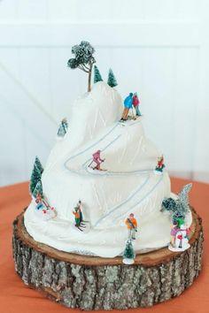 Faire Un Gateau D Anniversaire Pour Adulte #15: Dessert D Anniversaire Gateau D Anniversaire Original Pour Adulte Ski